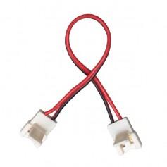 Connecteur monocouleur d'angle cablé