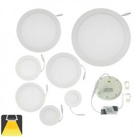 Panneau LED diamètre 300mm, puissance 24w, rond encastrable - Blanc chaud 3000K