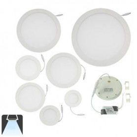 Panneau LED diamètre 300mm, puissance 24w, rond encastrable - Blanc froid 6000K