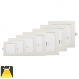 Panneau LED 120x120, 6W, carré encastrable - Blanc chaud 3000K