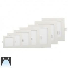 Panneau LED 147x147, 9W, carré encastrable - Blanc froid 6000K