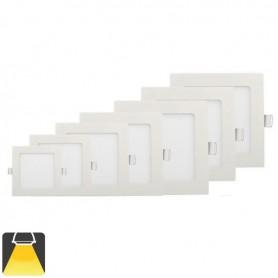 Panneau LED 225x225, 18W, carré encastrable - Blanc chaud 3000K