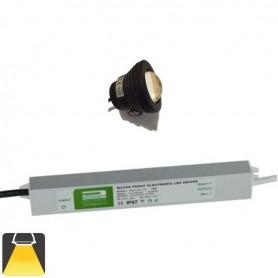 KIT 1 à 4 Projecteurs LED 10W étanche - Blanc chaud 3000K