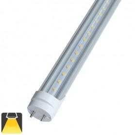 Tube LED T8 10W 60cm couvercle transparent - Blanc chaud 3000K