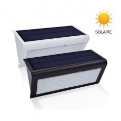 Lampe LED solaire - Boitier noir ou blanc