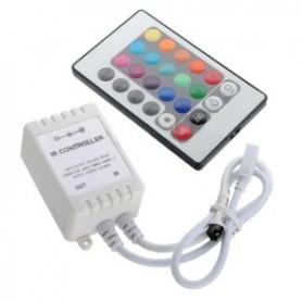 Contrôleur Télécommande RGB 24 touches 12A 12V