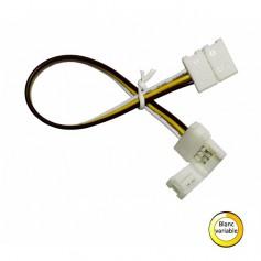 Connecteur blanc variable d'angle