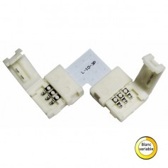 Connecteur blanc variable en L