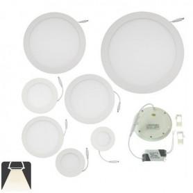Panneau LED diamètre 225mm, puissance 18W, rond encastrable - Blanc naturel 4000K