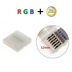 Connecteur droit RGB + blanc variable