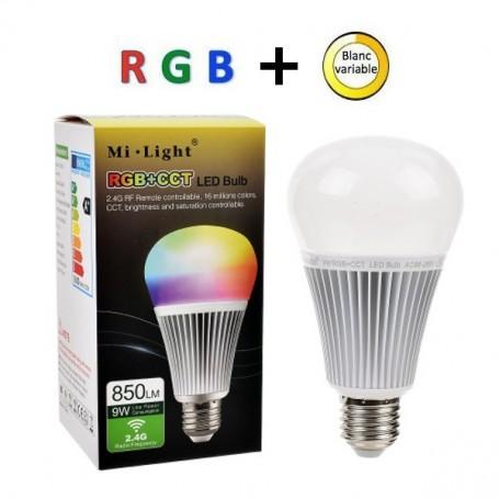 Ampoule LED RGBW + télécommande RF