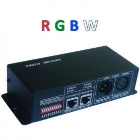 Contrôleur DMX 512 RGBW 4X4A 12/24V
