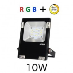 Projecteur LED 10W RGB + blanc variable RF