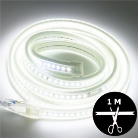 Ruban LED 230V 2835 sécable 1 mètre - Blanc naturel 4500K
