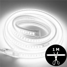 Ruban LED 230V 2835 sécable 1 mètre BLANC - Blanc froid 6000K
