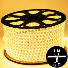 Ruban LED 230V 5050 sécable 1 mètre - Blanc chaud 3000K
