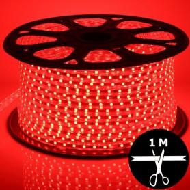 Ruban LED 230V 5050 sécable 1 mètre - Rouge