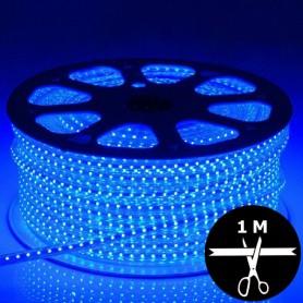 Ruban LED 230V 5050 sécable 1 mètre - Bleu