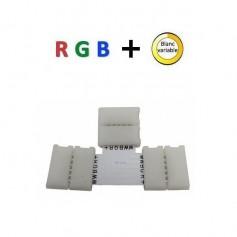 Connecteur RGB + blanc variable en T