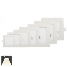 Panneau LED 225x225, 18W, carré encastrable - Blanc naturel 4000K