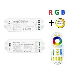 Pack télécommande multizones RGB + blanc variable RF 12/24V