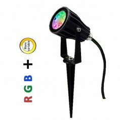 Projecteur LED 6W RGB + blanc variable RF
