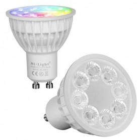 Spot LED GU10 4W RGB+blanc variable