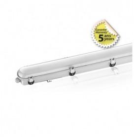Boitier Etanche LED Intégrées Traversant 48W 3000K blanc chaud IP65 1500mm
