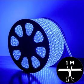 Ruban LED 230V 2835 sécable 1 mètre BLEU - Bleu