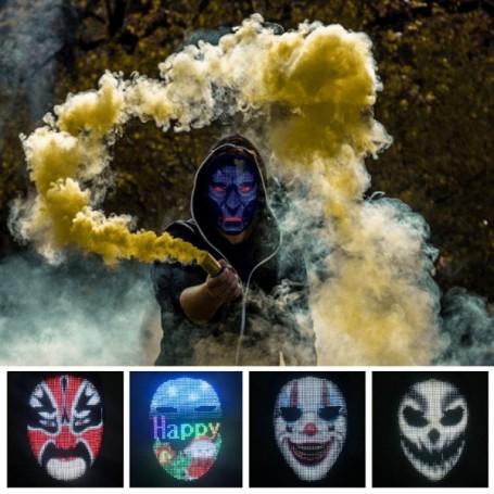 Masque LED couleur animé