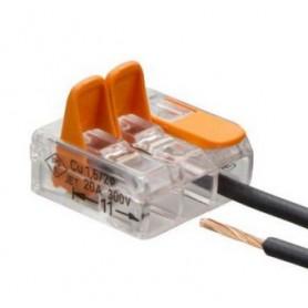 Connecteur électrique clipsable 2 fils 12/24V ou 230V