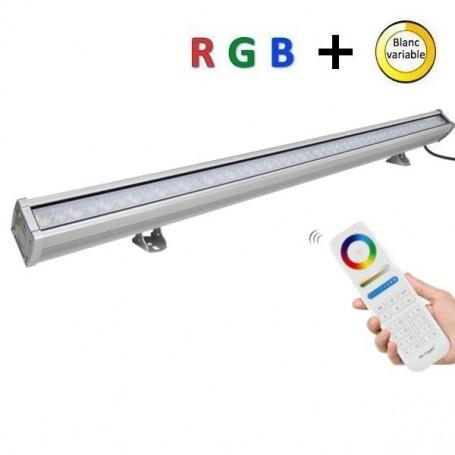 Rampe LED RGB + blanc variable RF DMX 72W