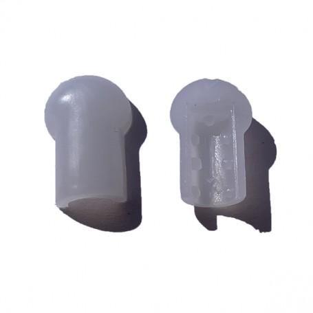 Embout de néon flexible LED SF 6mm à coller - LOT DE 10