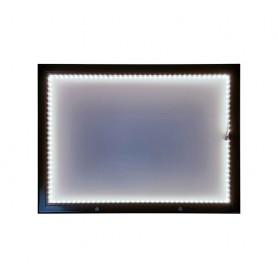 Porte menu LED mural métallique de dimensions 68 cm x 50 cm
