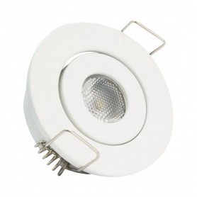 Spot downlight COB orientable rond 1W blanc coupe 44mm
