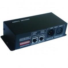 Contrôleur DMX 512 RGB 3X4A 12/24V